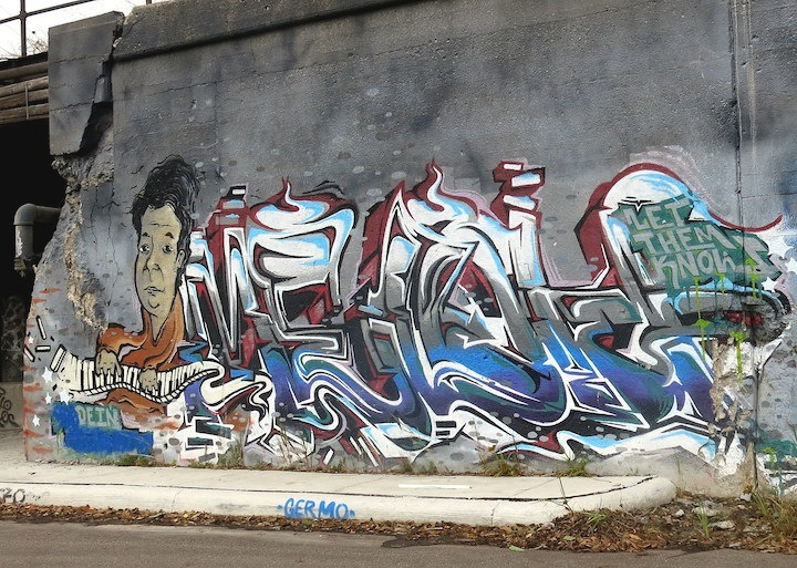 meloh graffiti detroit  Street Art NYC at Southwest Detroits <em>Station Walls</em> with Fel3000ft, Iges, Malt, Teck, Stori, Kosek, Meloh, Ramen, Yogrt and Rift