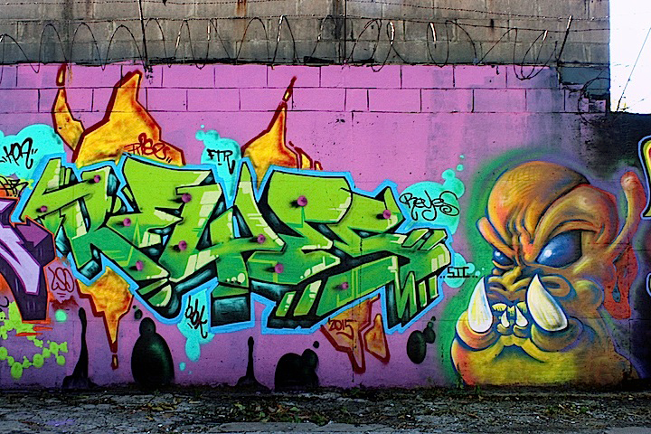 reyes and topaz graffiti character east new york Goin Crazy at the Junction with: Vers, Werd, Kes, Amuse 126, NME, Ceos, Jerms, Reyes, Topaz and Rez
