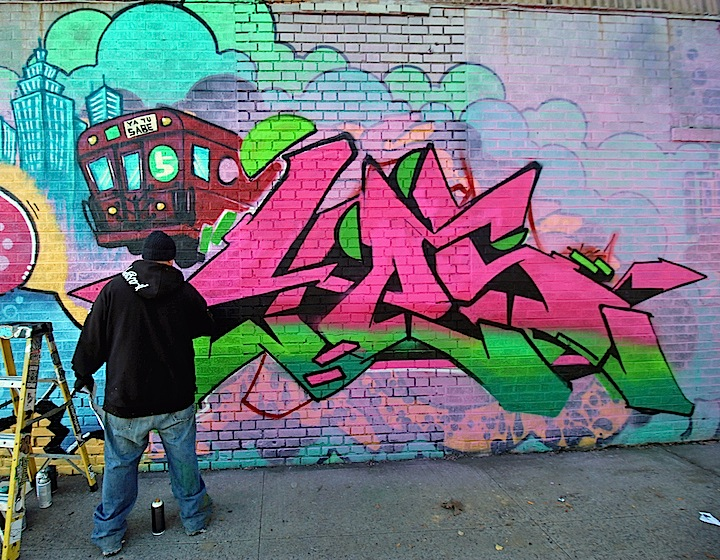 yes1 paints bronx graffiti nyc <em>Writers Block</em> up in the Bronx: Rime, Mastro, Curve, Spot, Yes 1, Uncle Ro, Wen Cod, Rath, Danielle Mastrion, Lexi Bella, Ces and more