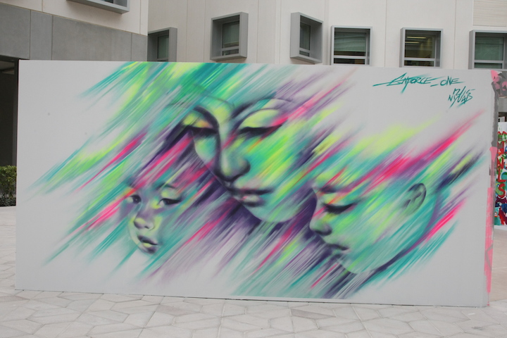Enforce One street art Abu Dhabi  Houda Lazrak Curates NYU Abu Dhabi First <em>Live Painting Event</em>: Fats, Steffi Bow, SyaOne, Enforce1 and Just1