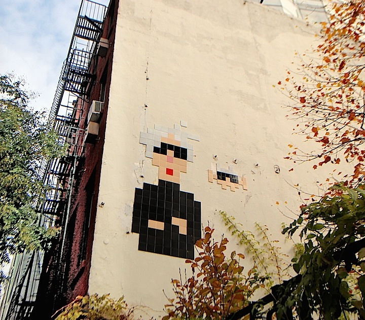 space invader in the east village
