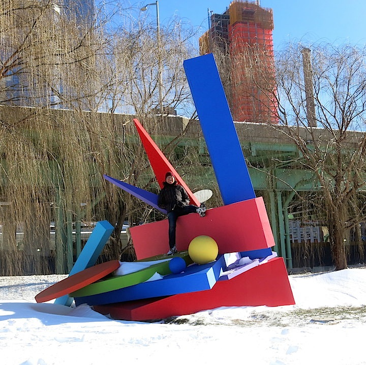 Lee Apt Jubilation sculpture NYC Searching for Public Art in Riverside Park on a Snowy Sunday Afternoon: Sukyung Kim, Kate Jansyn, Paola Morales, Lee Apt and Ken Shih