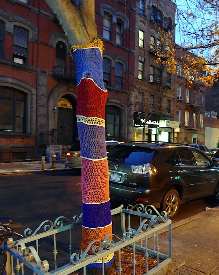Naomi rag yarnbomb NYCJPG1 Fiber Artist Naomi RAG Brings Flavor and Flair to East Harlem Trees