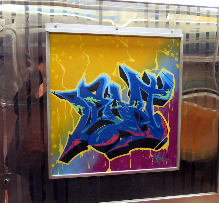 Part one graffiti nyc subway Riding the D Train with Nic 707, Part One, Styx and Gear One