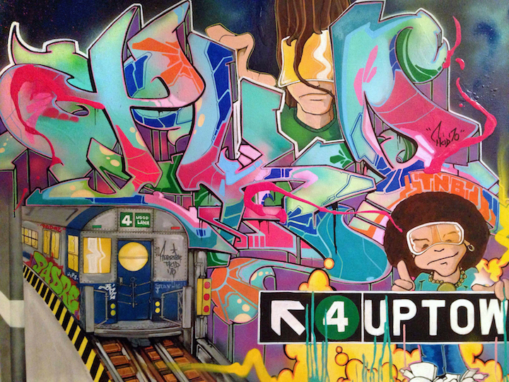 T-kid-graffiti-on-canvas