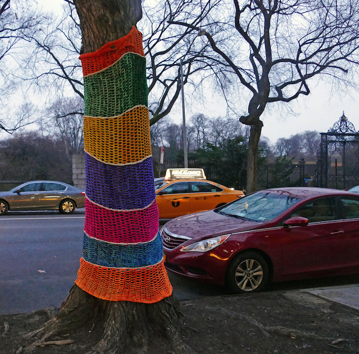 naomi rag yarn bomb street art east harlem NYC Fiber Artist Naomi RAG Brings Flavor and Flair to East Harlem Trees