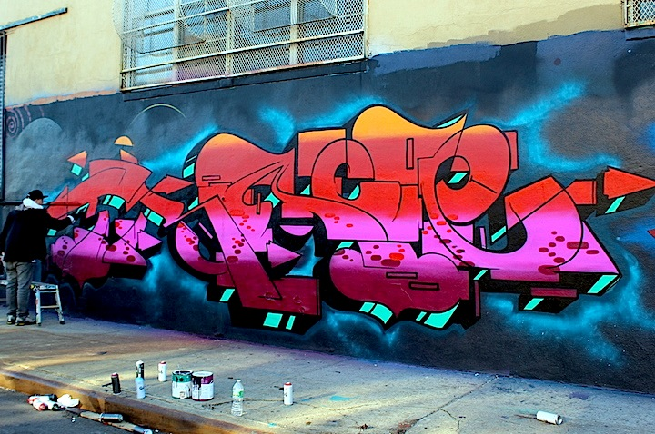 trace wave new graffiti nyc Busy on Bogart: 4Sakn, Eskae, Bishop203, Hoacs, Trace and Roachi