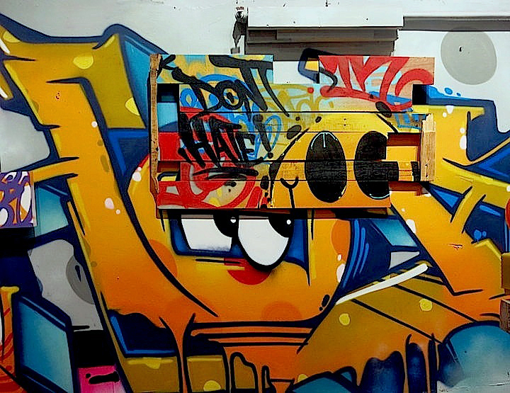 Hoacs graffiti dont hate  exhibit Hoacs on <em>No Days Off</em>, His First Solo Exhibit, at Eden Fine Art in SoHo