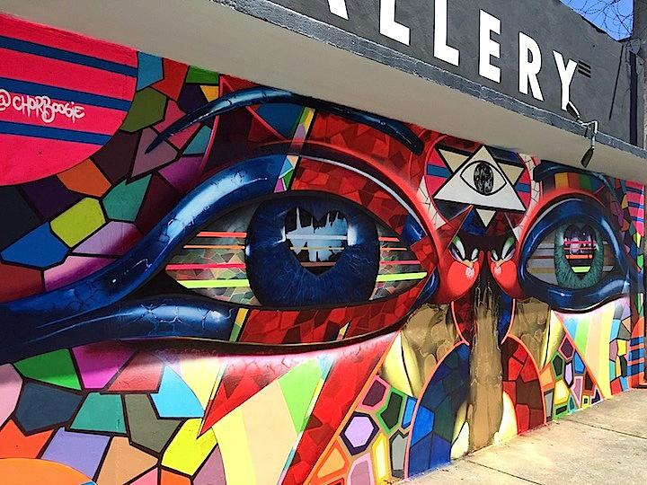 chor boogie outdoor muraljpg Chor Boogie Brings His Brilliant Visuals to Wynwoods Macaya Gallery