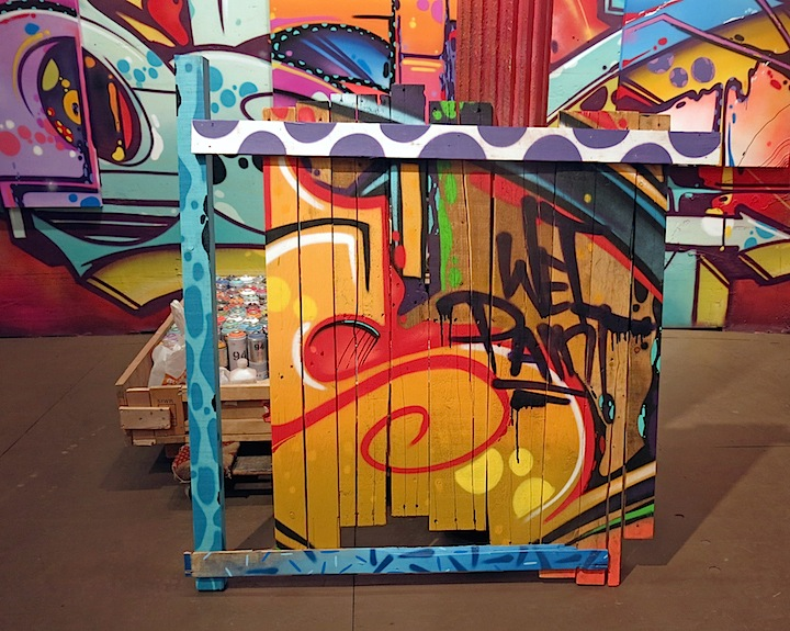 hoacs graffiti wet paint Hoacs on <em>No Days Off</em>, His First Solo Exhibit, at Eden Fine Art in SoHo