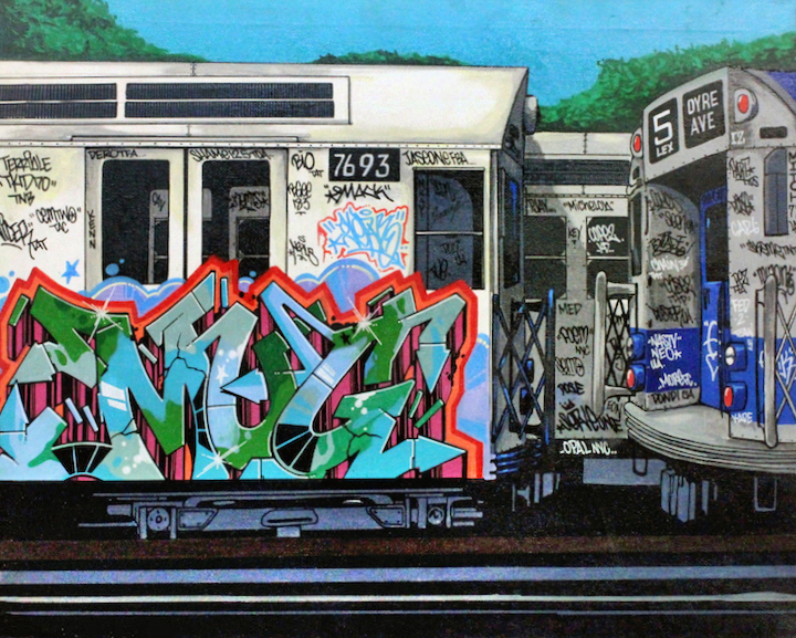 serve-graffiti-on-train-on-canvas