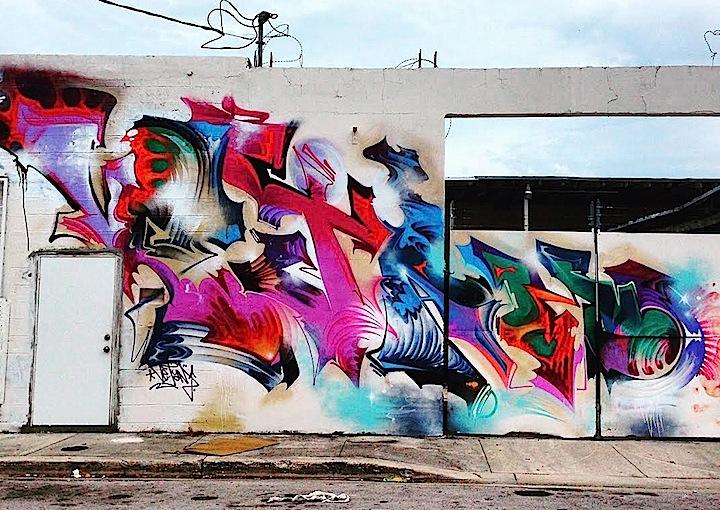 vejam Miamis Vibrant Graffiti Walls: Miro, Vejam, Gorey, Bulks, Vogue, Ligisd, Mastro and Krave