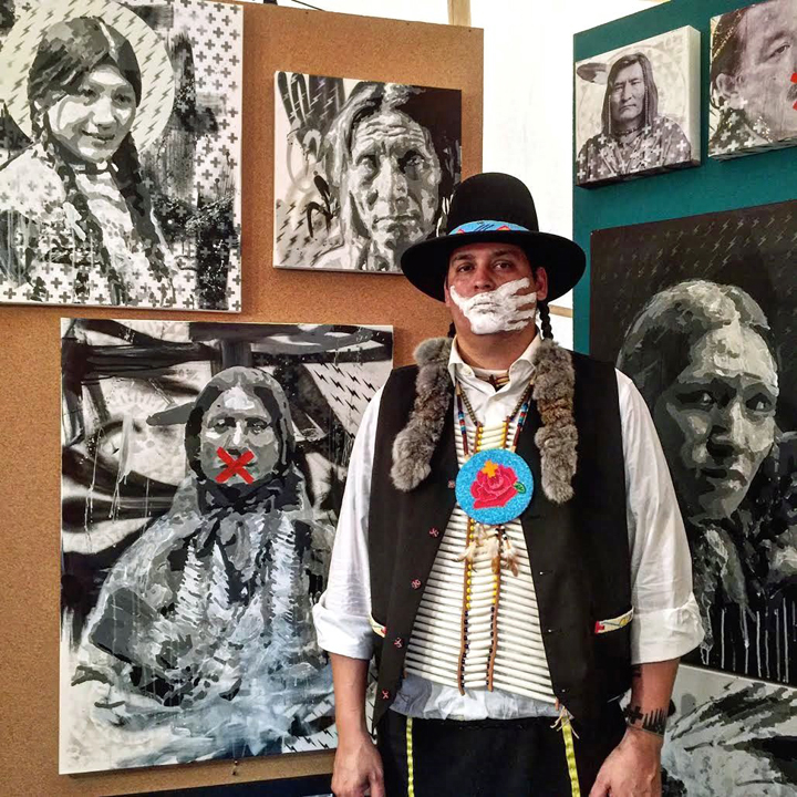 Gregg Deal at Smithsonian Painter and Performance Artist Gregg Deal on Silenced Indigenous Voices