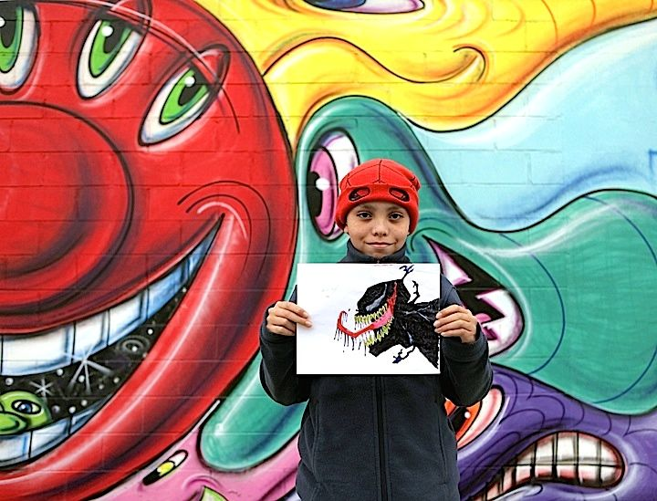 Jadeden young artist The Legendary Kenny Scharf Graces Massive Central Bronx Wall With His Buoyant, Magical Characters