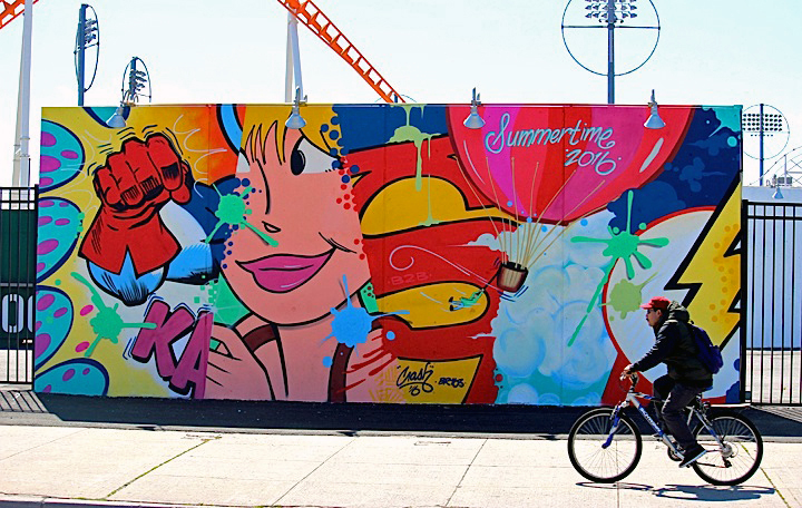 crash graffiti coney island Coney Island Public Art Wall Project Returns This Weekend with: Tats Cru, Icy and Sot, Lady Aiko, Eric Haze, Pose, Mister Cartoon, Daze, Crash, John Ahearn, Nina Chanel and more