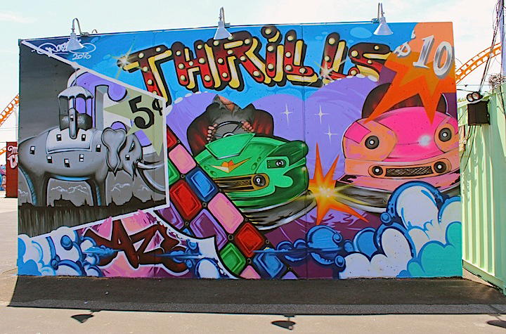 daze mural art coney island Coney Island Public Art Wall Project Returns This Weekend with: Tats Cru, Icy and Sot, Lady Aiko, Eric Haze, Pose, Mister Cartoon, Daze, Crash, John Ahearn, Nina Chanel and more