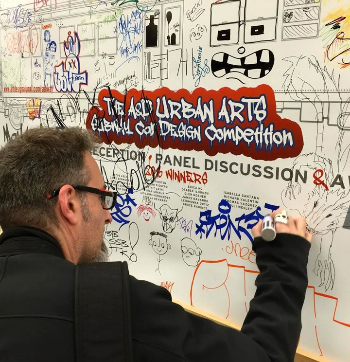 joe russo tags at A and D High School of Art &amp; Design Hosts First <em>A&amp;D Urban Arts Subway Car Design Competition</em> and Graffiti Art Panel Discussion