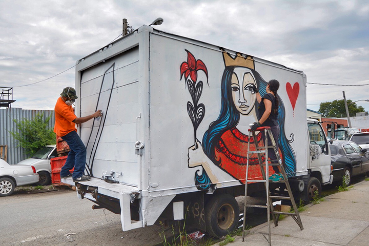 Alice Mizrachi and TRAPIF truck art nyc Yoav Litvin on <em>2Create</em>: His Ongoing Project and Upcoming Book on Creative Collaborations