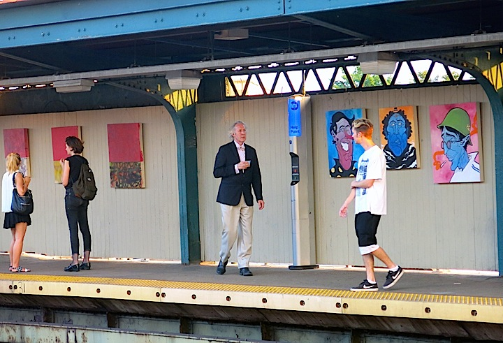 ApostropheNYC art exhibit subway platform NYC <em>Apostrophe NYC</em> Transforms Subway Station into a Pop Up Gallery