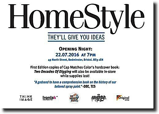 Home style exhibit HomeStyle    <em>Cap Matches Colors</em> First International Exhibit    to Open Tomorrow, July 22, at Bristols HANGFIRE Gallery