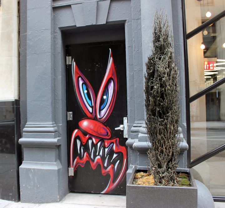 Kenny-scharf-door-midtown-nyc