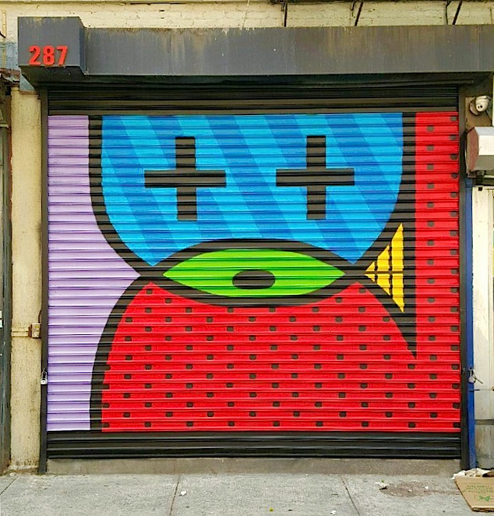 Moody Mutz street art shutter nyc NYC Shutters – Part XI: Street Art and Graffiti by Eelco, Crash with Bio, Moody Mutz, Phetus and Jules Muck