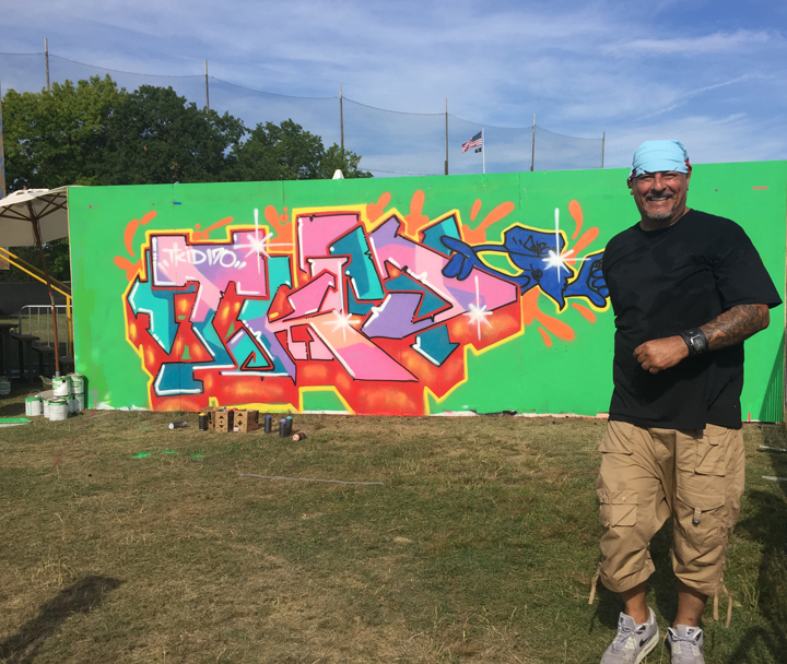 T Kid graffiti <em>All City Express</em> Premieres at Randalls Island with: Meres, Lady Pink, Toofly, See tf, Python, Jerms, Topaz and T Kid
