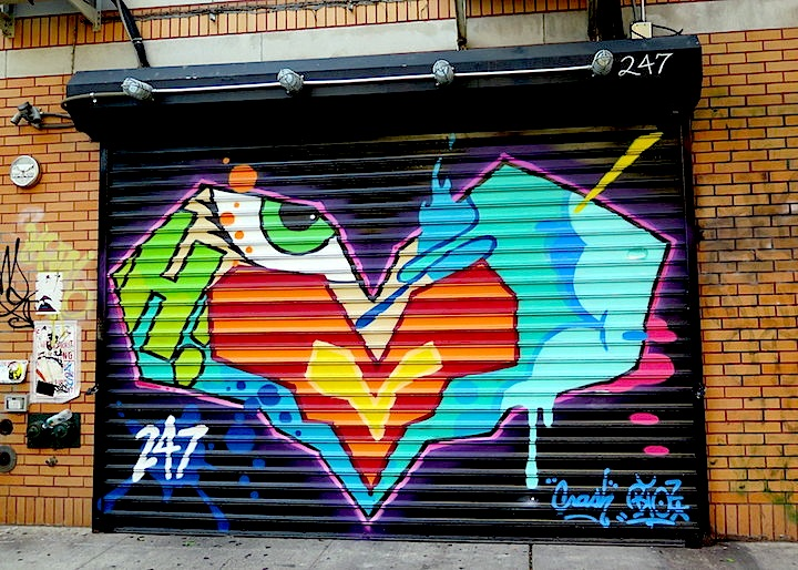 crash and bio graffiti nyc copy NYC Shutters – Part XI: Street Art and Graffiti by Eelco, Crash with Bio, Moody Mutz, Phetus and Jules Muck