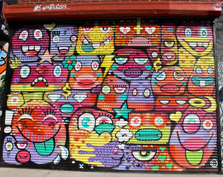 phetus street art NYC NYC Shutters – Part XI: Street Art and Graffiti by Eelco, Crash with Bio, Moody Mutz, Phetus and Jules Muck