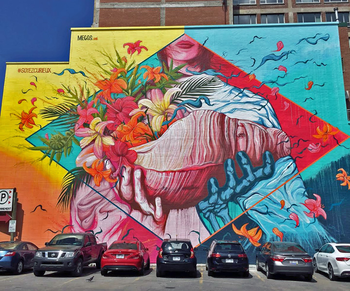 Montreal murals by five eight meggs buff monster inti for Art mural montreal