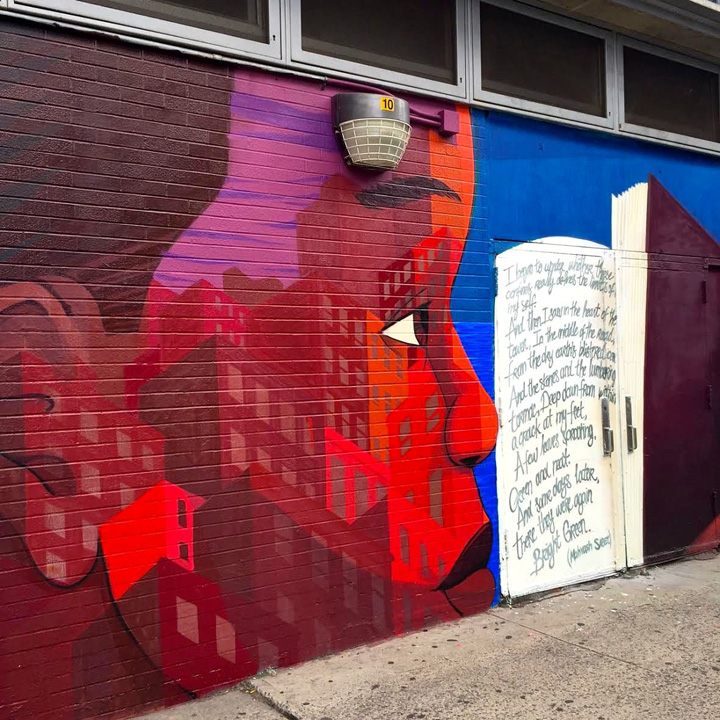 cekis street art mural harlem NYC #NotACrime Street Art Campaign for Education Equality Brings Mural Art to Harlem: Astro, Cekis, Ricky Lee Gordon, Rone, Alexandre Keto, Franco, Patch Whisky, Elle and more