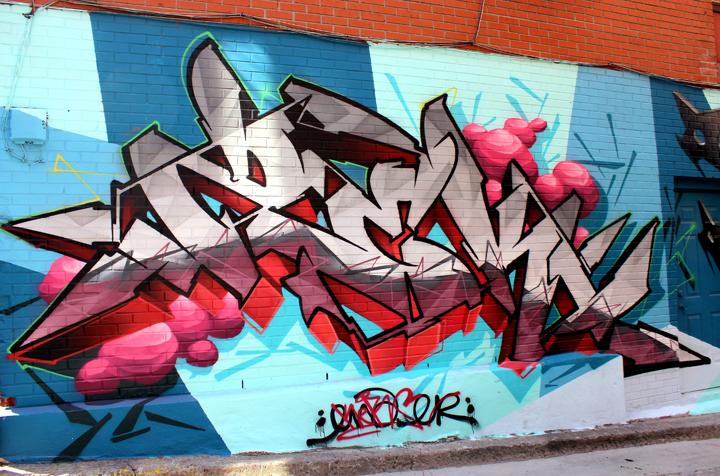zek156 graffiti montreal  Street Art NYC in Montreal, Part III: Enzo Sarto, Wax Head, Mastrocola, Chris Dyer, Shalak & Smoky, Earth Crusher and Zek156