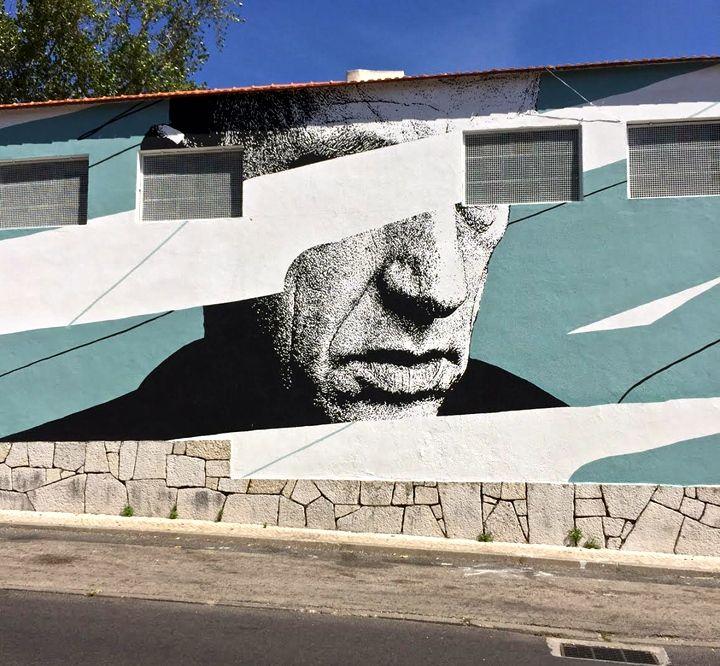 eime street art lisbon In Bairro Padre Cruz: Miguel RAM, Borondo, TelmoMiel, Mr Dheo, Spok Brillor, André NADA, Daniel Eime and 2CarryOn