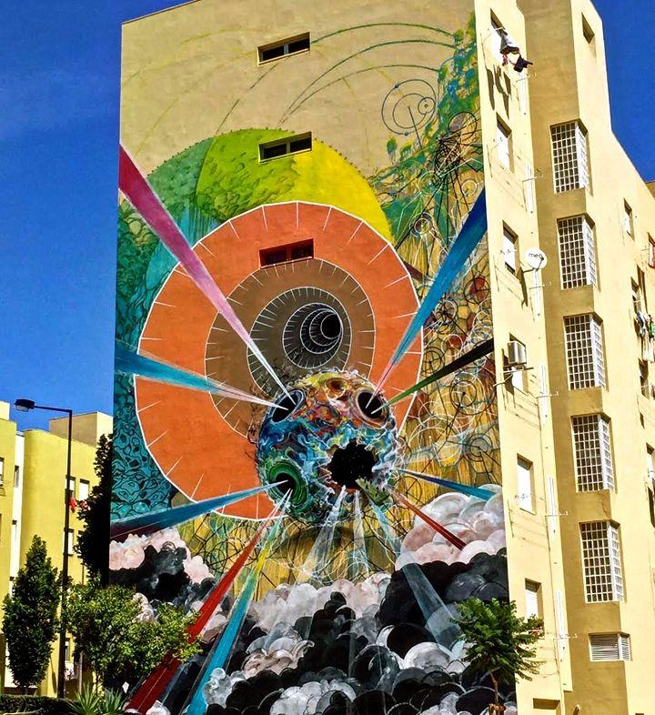 ram street art lisbon portugal In Bairro Padre Cruz: Miguel RAM, Borondo, TelmoMiel, Mr Dheo, Spok Brillor, André NADA, Daniel Eime and 2CarryOn