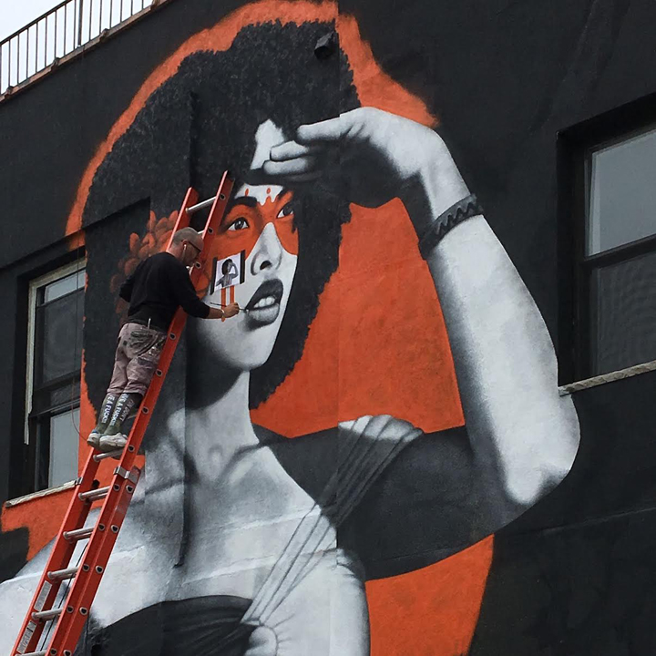 fin dac at work street art bushwick nyc Skillosophy Celebrates Street Art & Graffiti Outside Livestreams Bushwick Headquarters with: Fin DAC, Rubin, Danielle Mastrion and Lexi Bella, Jerms, Misha T, N Carlos J & more