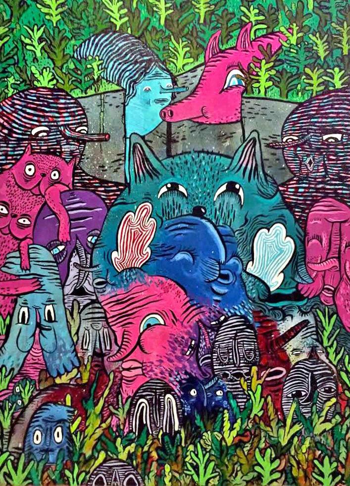 """Résultat de recherche d'images pour """"waxhead street art portrait"""""""