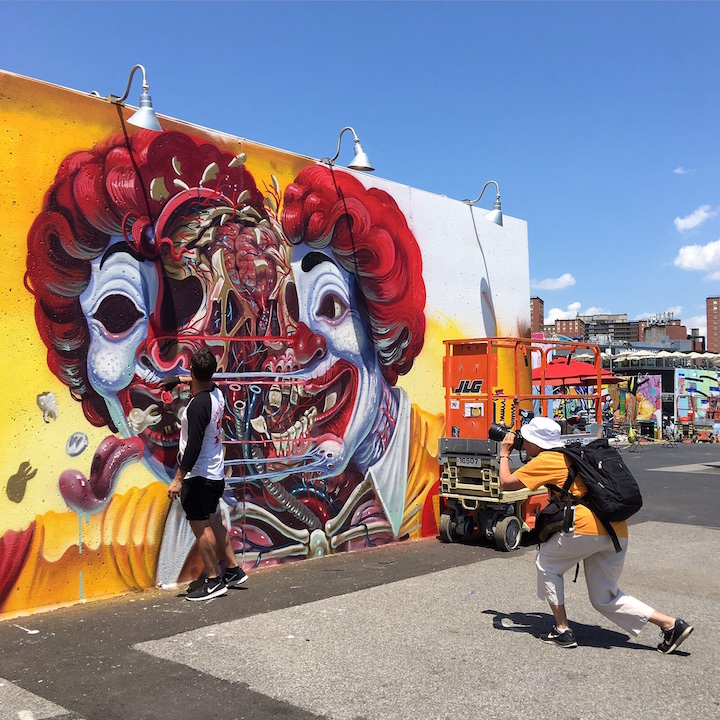 nychos street art coney islandJPG Speaking With Travel and Street Photographer Karin du Maire