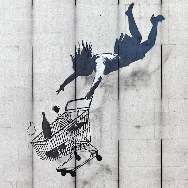 Banksy stencil art Shop Until You Drop Ulrich Blanché on <em>Banksy: Urban Art in a Material World</em>