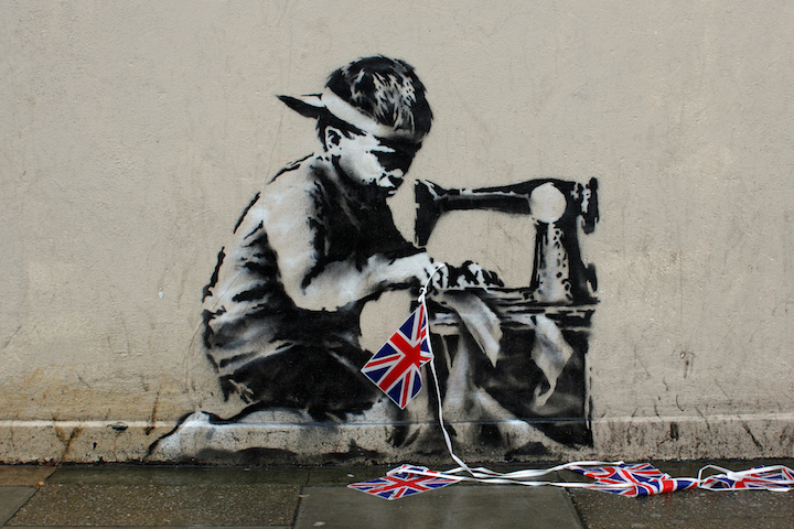 Banksy stencil art creative commons Ulrich Blanché on <em>Banksy: Urban Art in a Material World</em>