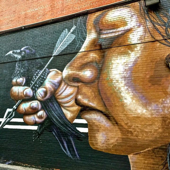 nether street art mural baltimore Richard Best aka Xxist on Baltimores SectionI Project