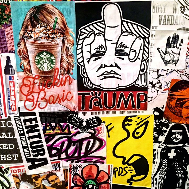 trump and more sticker art  iwillnot on the <em>DC Street Sticker EXPO 3.0</em> at the FridgeDC