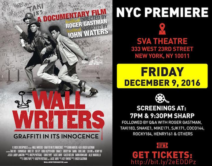 wall writers at SVA Roger Gastman on <em>Wall Writers: Graffiti in Its Innocence</em> and Its December 9th NYC Premiere  at SVA