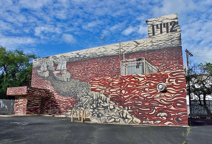 El Basta street art Puerto Rico <em>Santurce Es Ley</em> in San Juan, Puerto Rico:  D*Face, Bik Ismo, Abey Charron, El Basta, Zio Ziegler, Morivivi, Seth, David Zayas and Pastel