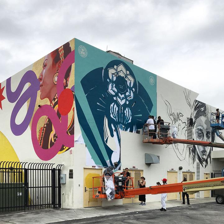 Kevin-Ledo-shepard-fairey-paola-delfin-street-art-Miami