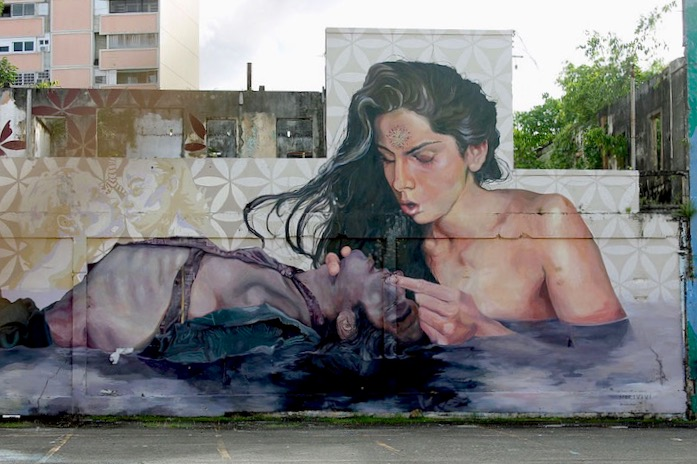 Morivivi street art puerto rico <em>Santurce Es Ley</em> in San Juan, Puerto Rico:  D*Face, Bik Ismo, Abey Charron, El Basta, Zio Ziegler, Morivivi, Seth, David Zayas and Pastel