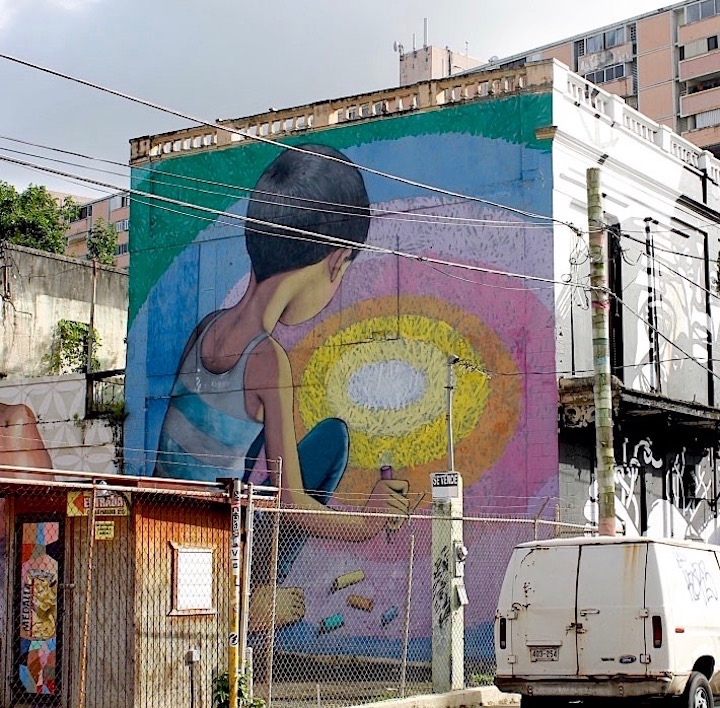 Seth street art Puerto Rico <em>Santurce Es Ley</em> in San Juan, Puerto Rico:  D*Face, Bik Ismo, Abey Charron, El Basta, Zio Ziegler, Morivivi, Seth, David Zayas and Pastel