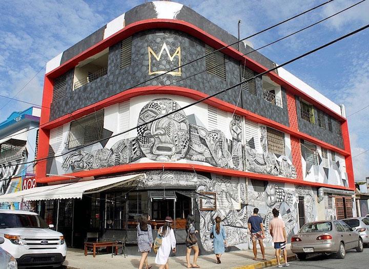 Zio Zeigler street art puerto rico <em>Santurce Es Ley</em> in San Juan, Puerto Rico:  D*Face, Bik Ismo, Abey Charron, El Basta, Zio Ziegler, Morivivi, Seth, David Zayas and Pastel