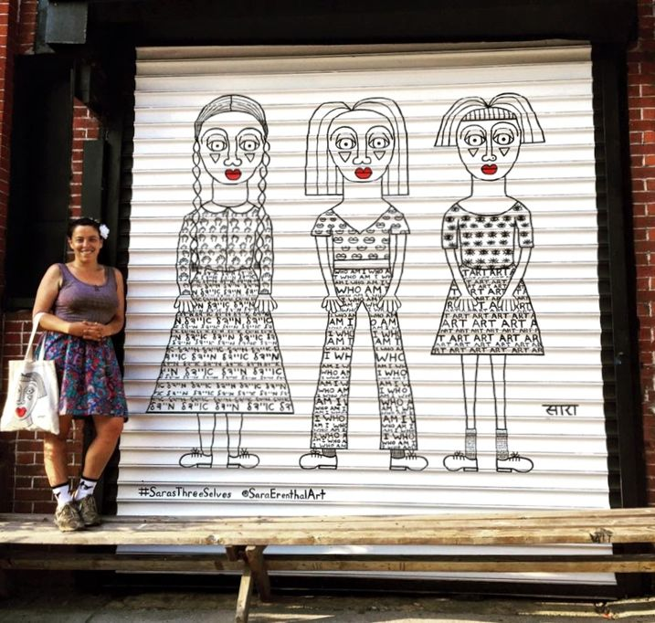 sara erenthal mural art Sara Erenthal Gives New Life to Discarded Objects on Park Slope Streets