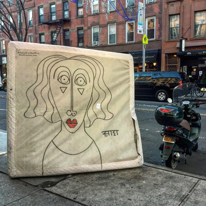 sara erenthal upcycled art nyc Sara Erenthal Gives New Life to Discarded Objects on Park Slope Streets