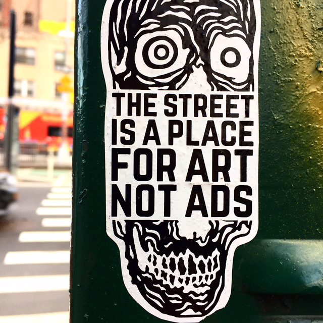 Sticker art nolita nyc